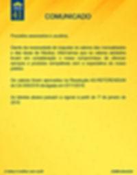 Comunicado de Ajustes das Mensalidades 2
