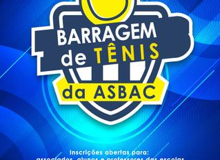 Venha participar da Barragem de Tênis Asbac