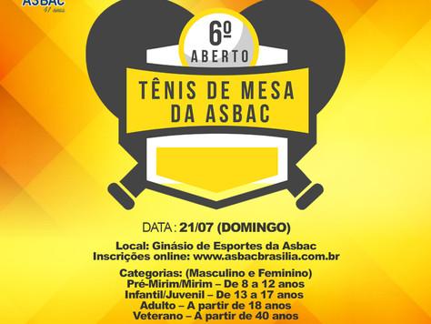 6º Aberto de Tênis de Mesa da Asbac