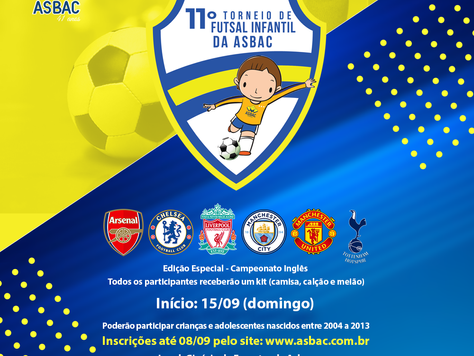 Vem aí: 11º Torneio de Futsal Infantil da Asbac!