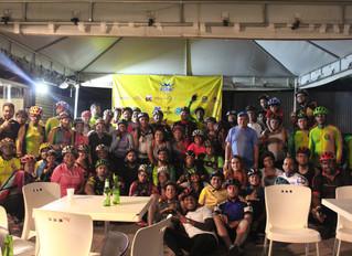 O 4º Pedal noturno da Asbac foi um sucesso