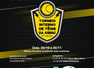 6º Torneio Interno de Tênis Asbac