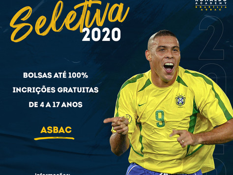 Seletiva de Bolsas R9 Ronaldo Academy na Asbac