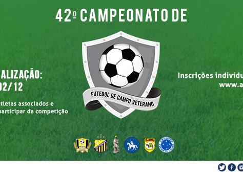 Faça sua inscrição: 42º Campeonato de Futebol de Campo Veterano