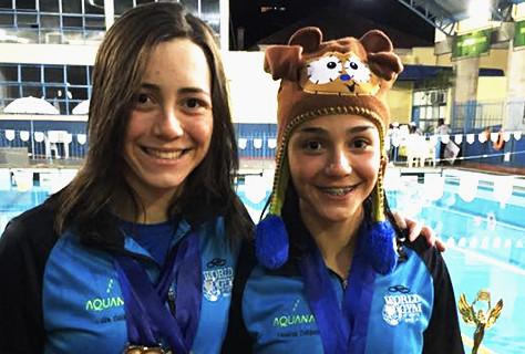 Irmãs Celidonio, atletas Asbac rumo à seleção brasileira de natação