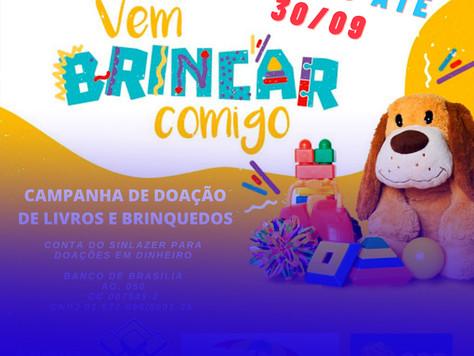 """Asbac e Sinlazer apoiam a campanha """"Vem Brincar Comigo"""" 2020"""