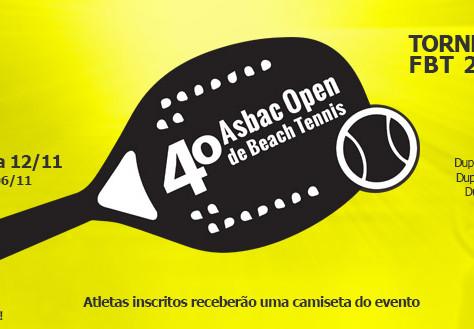 4º Asbac Open de Beach Tennis: inscrições abertas
