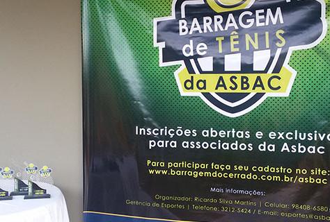 Finais do 1º Torneio da Barragem de Tênis da Asbac
