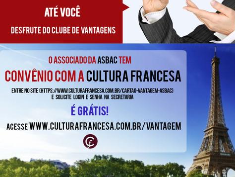 Tem novidade na Asbac: CONVÊNIO CULTURA FRANCESA