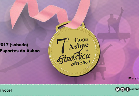 7ª Copa Asbac de Ginástica Artística: inscrições abertas