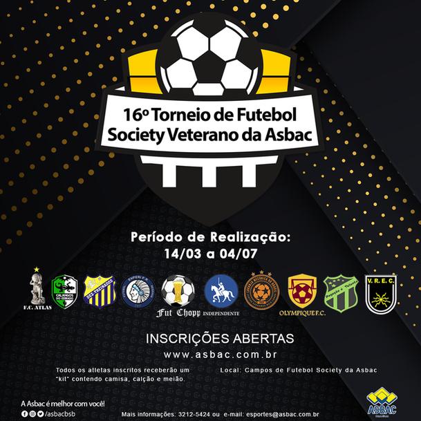 16º Torneio de Futebol Society Veterano