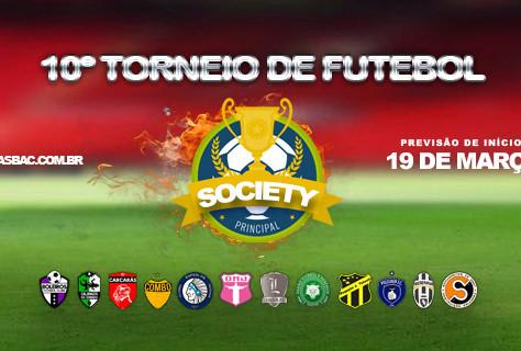 Inscrições do 10º Torneio de Futebol Society Principal da Asbac prorrogadas até 12 de março.