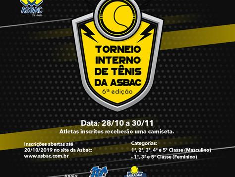 6º Torneio Interno de Tênis da Asbac