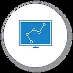 Smart Tech Management Icon - White Backg