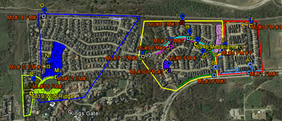 GIS Map Kings Ridge