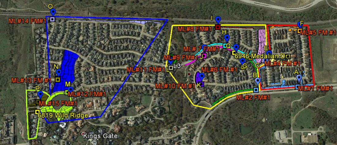 GIS Map Kings Ridge