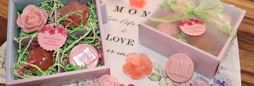 Passion Fruit Rose Scented Mother's Day Gift Soap Box
