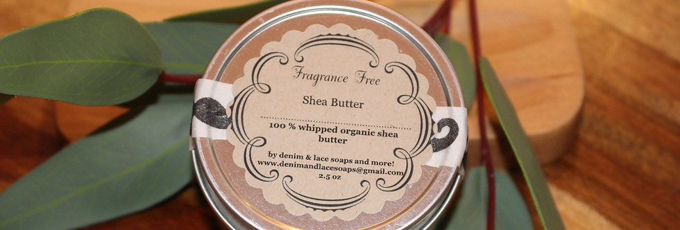 100% Whipped Shea Butter Fragrance Free