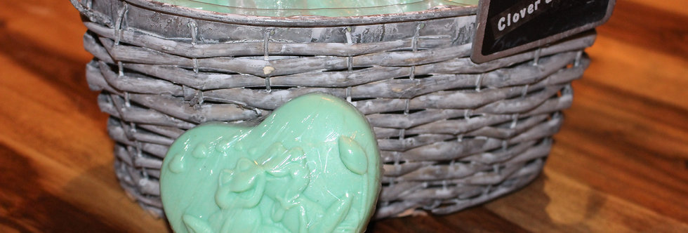 Frog Shaped Clover and Aloe Soap