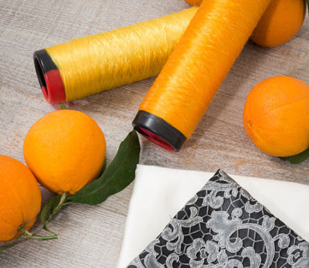 Тканина з апельсинів