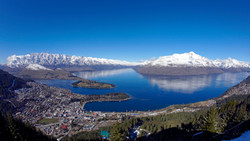 Panoramic views over Queenstown