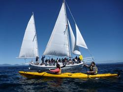Sea Kayak and Boat