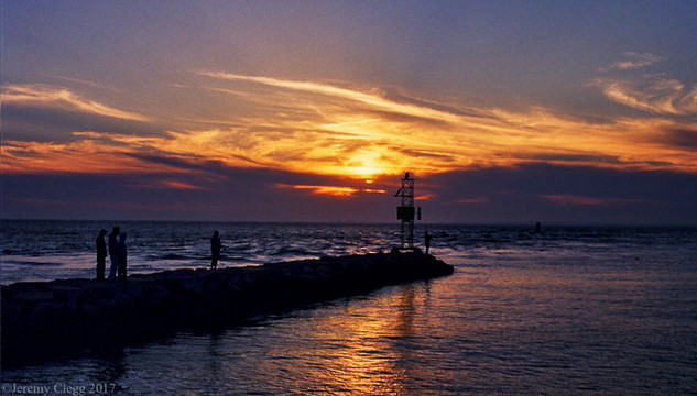 Jetty into Sunset