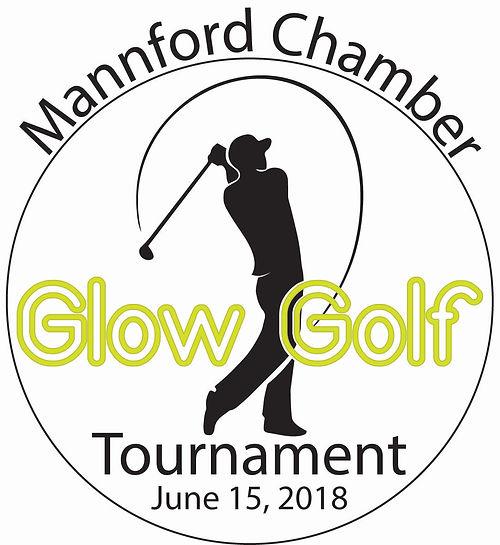 Mannford Chamber Glow Golf Tournament Logo - June 16, 2017