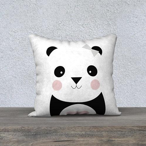 Coussin Panda Rose