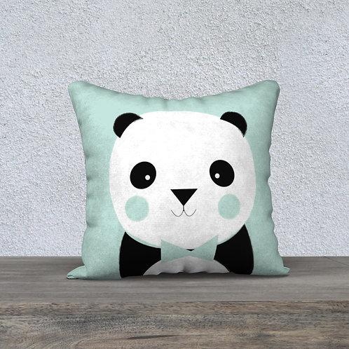 Coussin Panda Vert