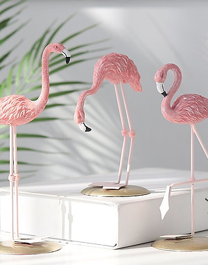 New Resin Flamingo Nordic Style Room Decor Flamingo Scandiniavian Decor