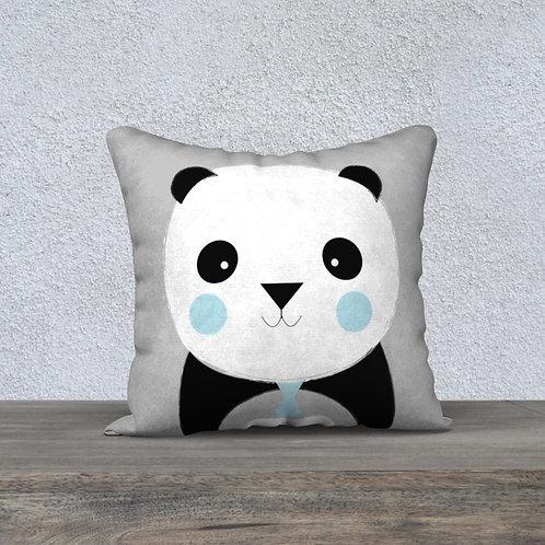 Coussin Panda Gris/C