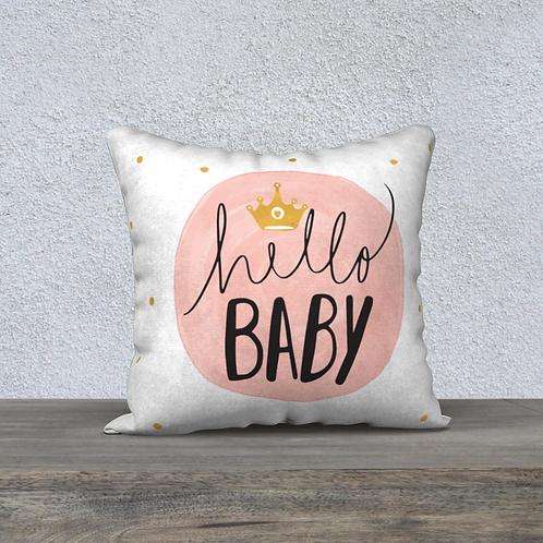 "Coussin décoratif ""hello Baby"""