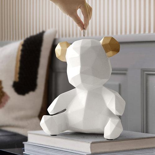 Piggy Bank Teddy Bear Figurines Money Box Gift Wedding Storage Box Money