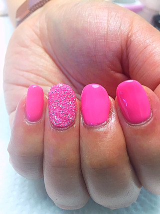 Gel Polish Nail Art with Crystal Pixies