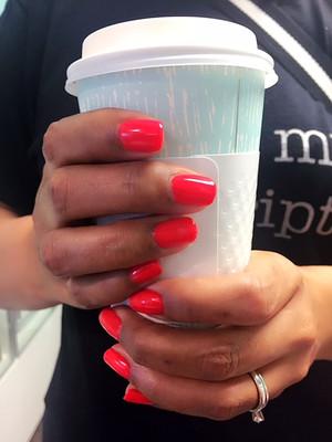 Custom gel polish manicure