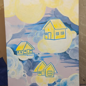 """Cloud Cities #2 """"Daytime Cloud Houses"""""""