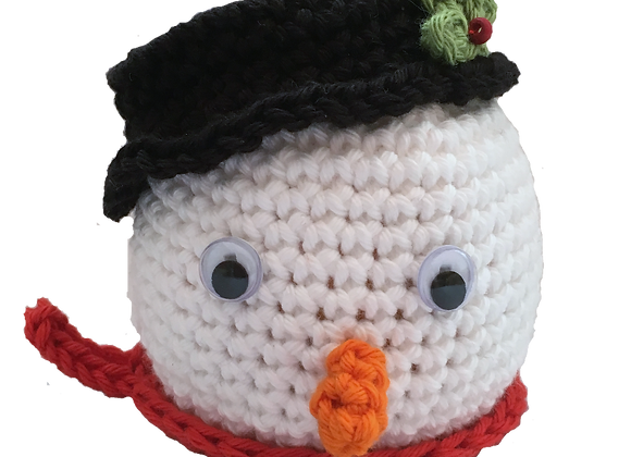 Snowman Chocolate Orange Cover PATTERN