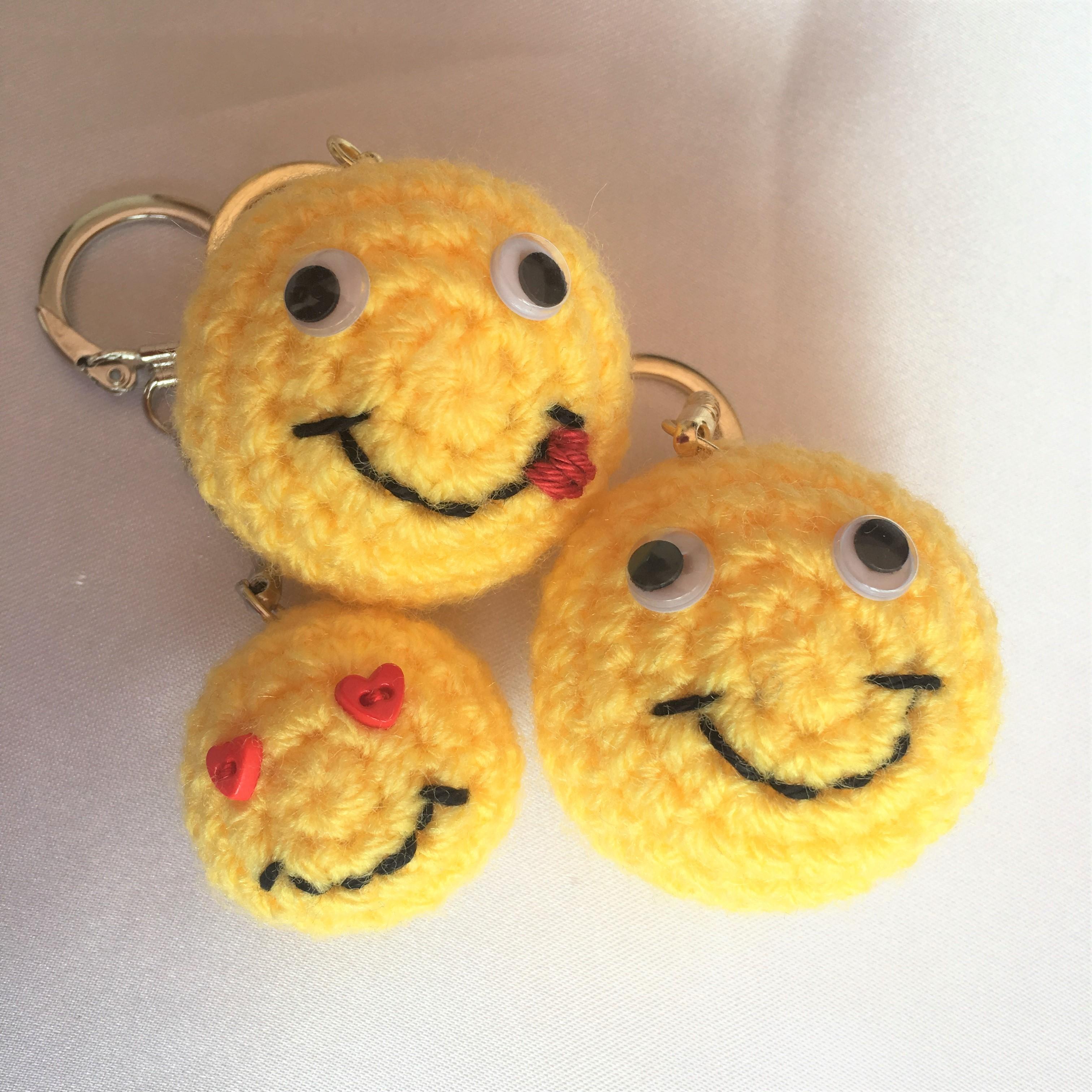 258 Smiley Keyring