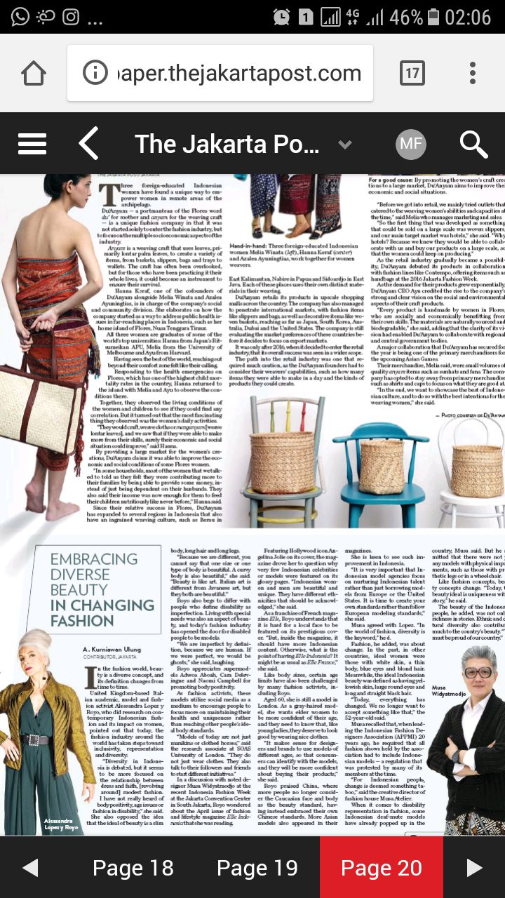 article in Jakarta Post 21/04/2018