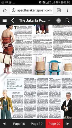 article in Jakarta Post 21/04/2018