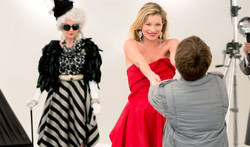 With Kate Moss in the boy and the dress