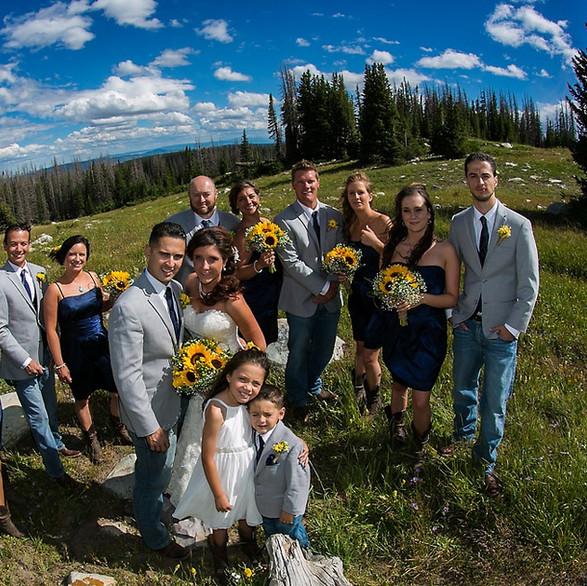Colorado couple Wyoming Wedding