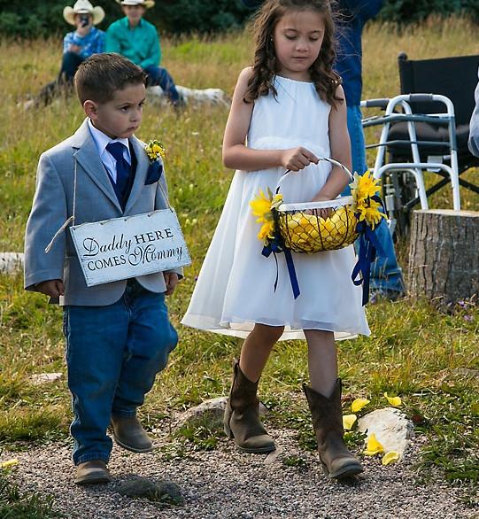 Wyoming mountain wedding