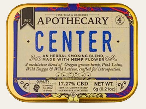 Apothecary Center | Hemp CBD Smoking Blend
