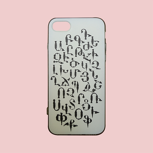 White - Armenian Alphabet iPhone 7 Case