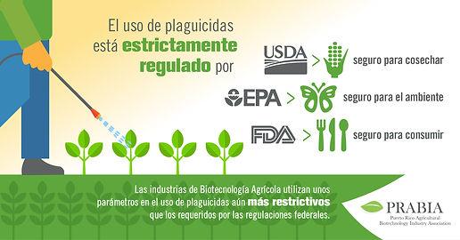 El uso de plaguicidas está estrictamente regulado