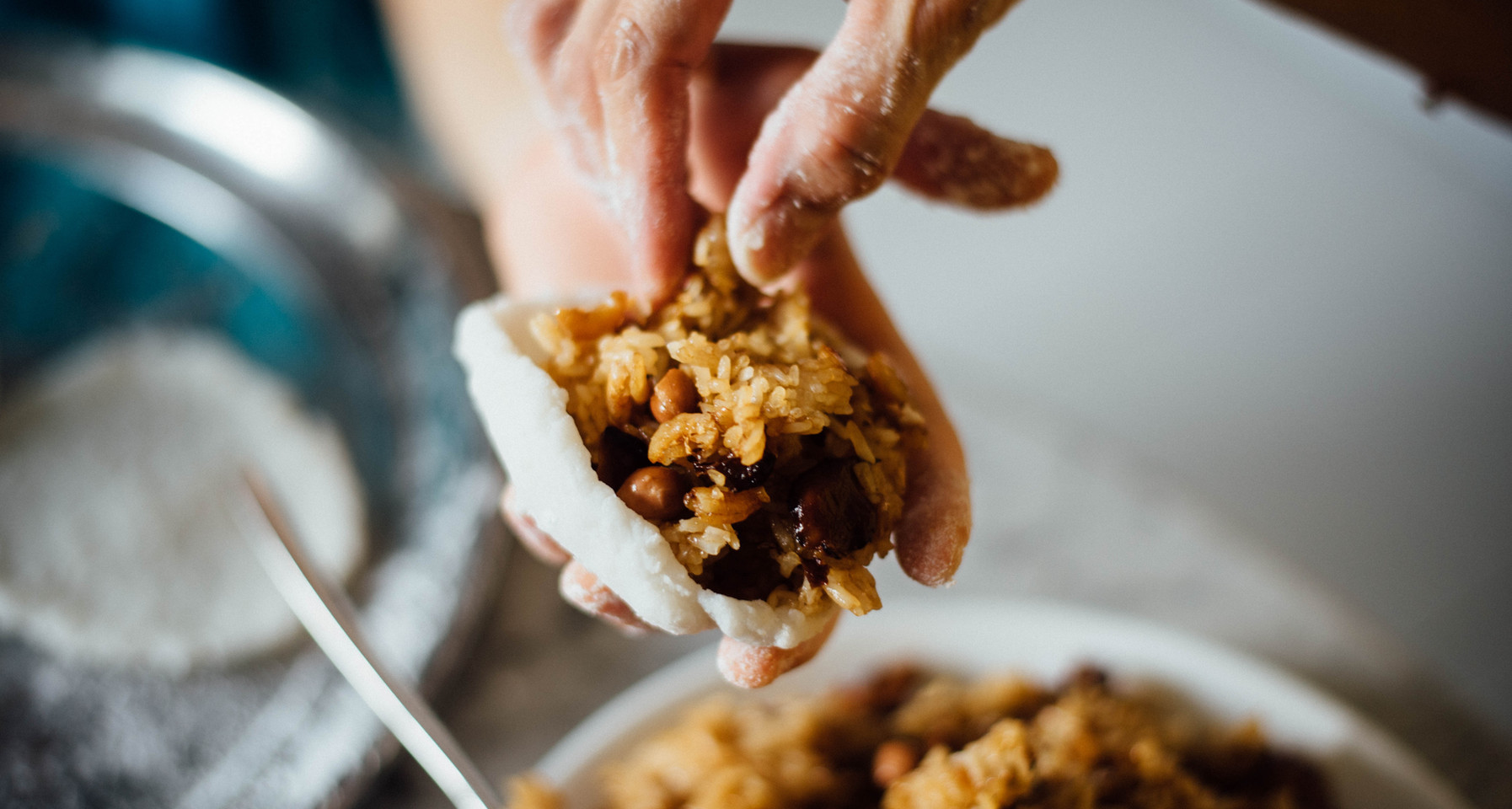 Stuffing Rice with Nuts