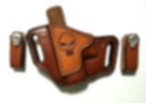 Custom Leather IWB OWB Combo with Punisher Skull