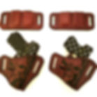 Hand-Made Leather Skull Holsters and Mag Carriers